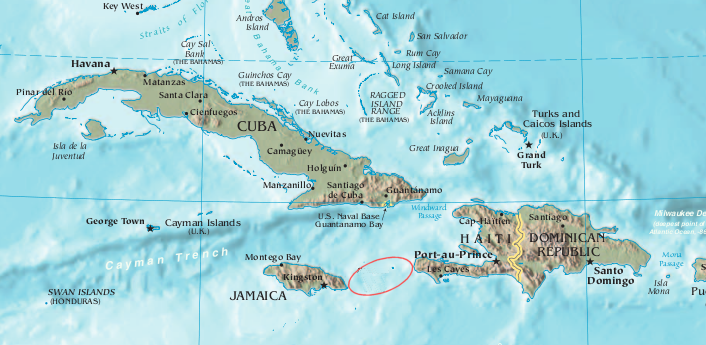 carte caraibes haiti jamaique