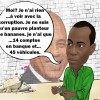 caricature- Jovenel blanchiment